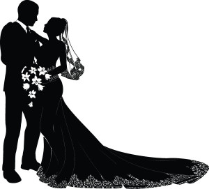 Bride And Groom Silhouette A